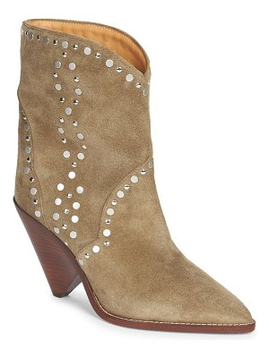 Isabel Marant lamsen embellished suede mid-calf boots