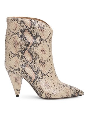 Isabel Marant leinee snakeskin-embossed leather ankle boots