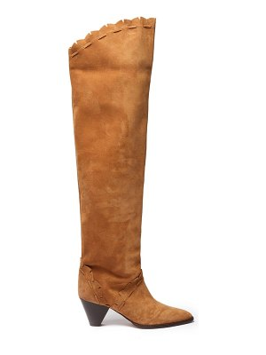 Isabel Marant luiz cone-heel suede over-the-knee boots