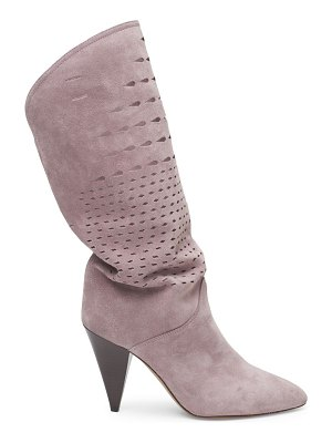 Isabel Marant lurrey laser-cut suede boots