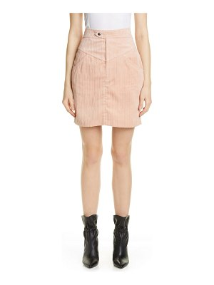 Isabel Marant marsh high waist corduroy skirt