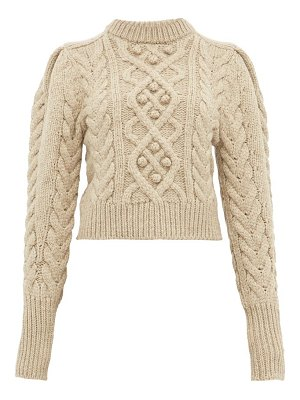 Isabel Marant milford cable-knit wool sweater