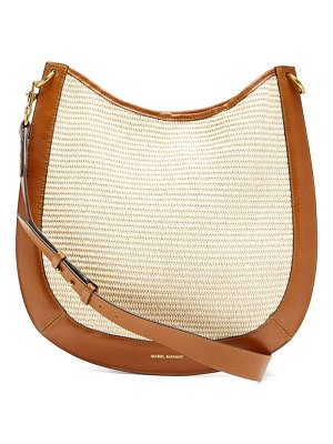 Isabel Marant moskan raffia and leather shoulder bag