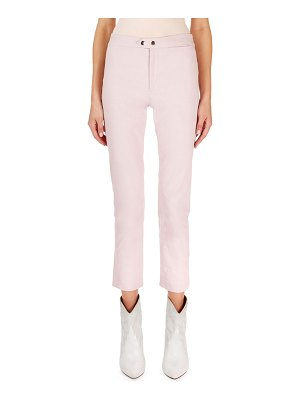 Isabel Marant Nila Flat-Front Flared Crop Pants