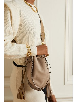 Isabel Marant radja whipstitched leather-trimmed suede bucket bag