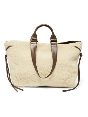 Isabel Marant wardy shearling and leather tote bag