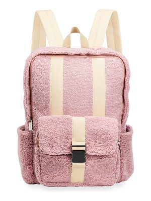 Iscream Girl's Sherpa & Faux Leather Backpack