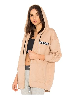 IVY PARK Badge Logo Zip Up Hoodie