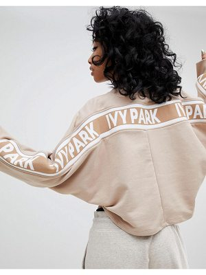 IVY PARK Cropped Sweatshirt With Taped Stripe Seams