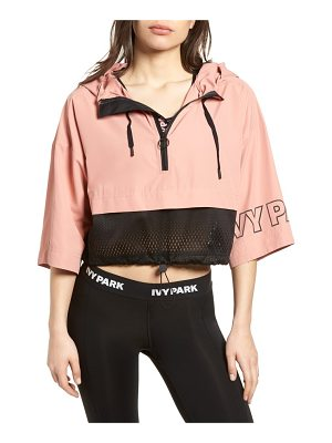 IVY PARK hooded crop logo jacket