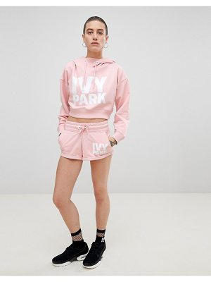 IVY PARK Logo Jersey Shorts In Pink