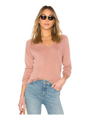 J BRAND Long Sleeve V Neck Tee