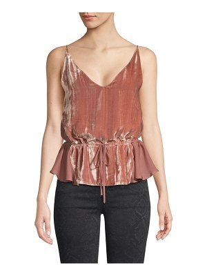 J Brand lucy mixed media velvet camisole