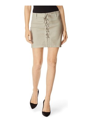J Brand talia lace-up miniskirt
