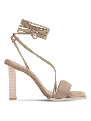 JACQUEMUS 100mm adour hautes leather sandals