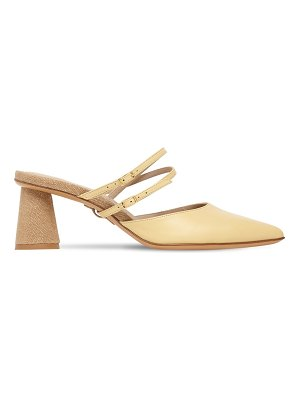 JACQUEMUS 50mm les chaussures basgia leather mules