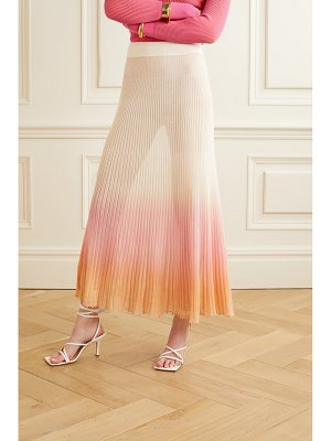 JACQUEMUS helado longue pleated ombré cotton-blend maxi skirt