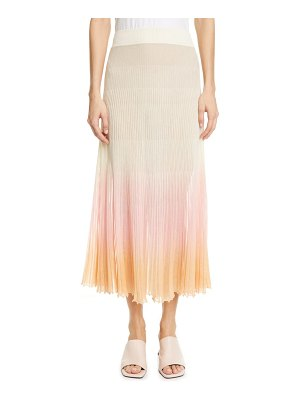 JACQUEMUS helado pleated ombre maxi skirt