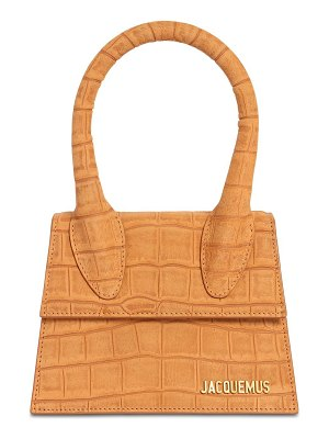 JACQUEMUS Le grand chiquito embossed leather bag