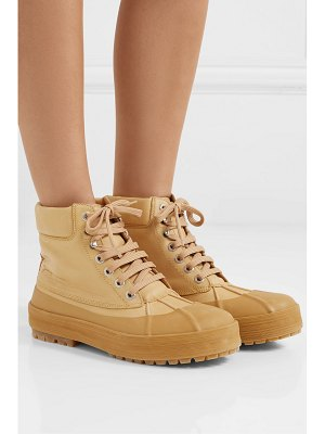 JACQUEMUS les meuniers hautes rubber-trimmed leather ankle boots