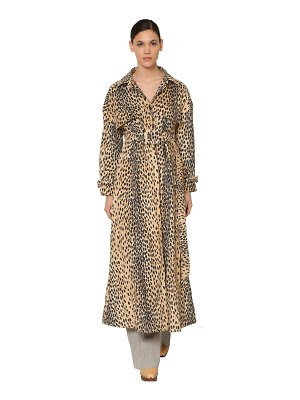 JACQUEMUS Printed cotton blend velvet trench coat