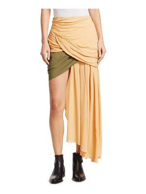 JACQUEMUS saaf ruched asymmetrical skirt