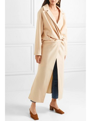 JACQUEMUS vaal twist-front canvas coat