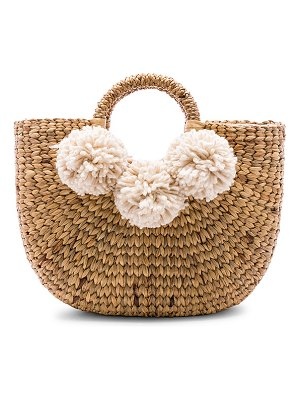JADEtribe Small Sabai 3 Pom Basket