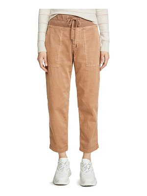 James Perse pull on clean cargo pants