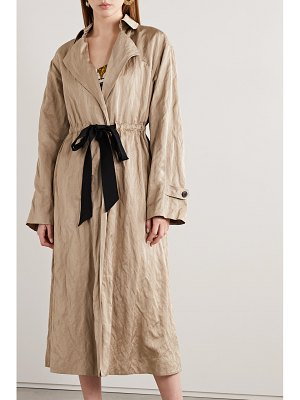 Jason Wu Collection tie-detailed washed-sateen trench coat