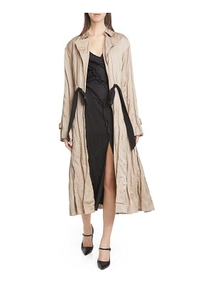 Jason Wu Collection tie waist washed sateen coat