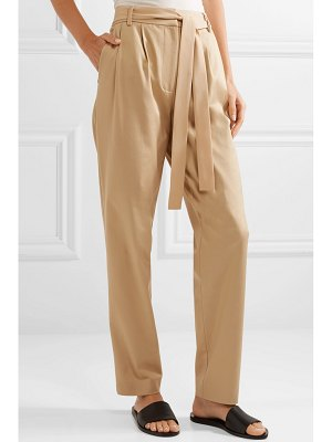 Jason Wu Grey belted stretch cotton-blend twill pants