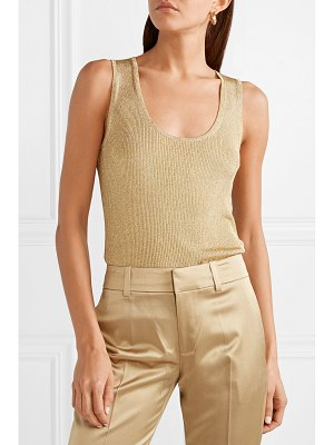 Jason Wu Grey smerelda metallic ribbed stretch-knit tank