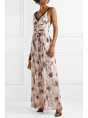 Jason Wu tulle-trimmed floral-print silk-crepon maxi dress