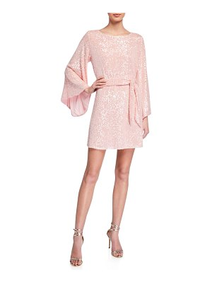 Jay Godfrey Maggie Sequin Flare-Sleeve Belted Mini Dress
