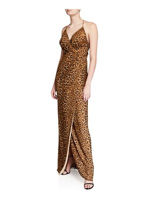 Jay Godfrey Santoro Animal-Print X-Back Slip Gown