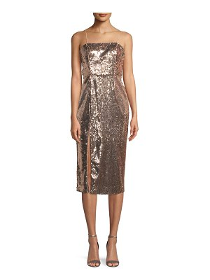 Jay Godfrey Sequin Slip Cocktail Midi Dress w/ Slit