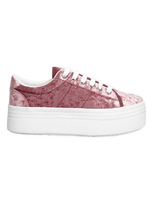 JC PLAY 40mm zomg velvet platform sneakers