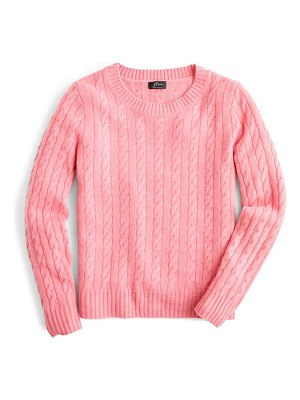 J.Crew everyday cashmere cable crewneck sweater