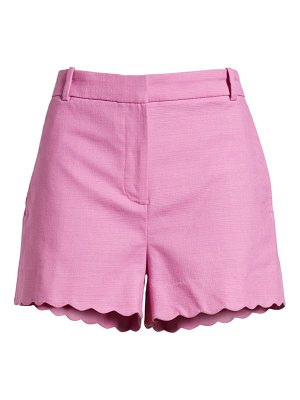 J.Crew fiesta scallop hem stretch cotton shorts