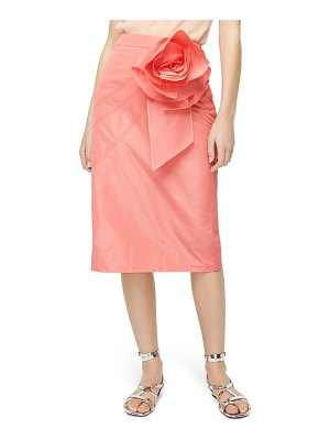 J.Crew taffeta rosette pencil skirt