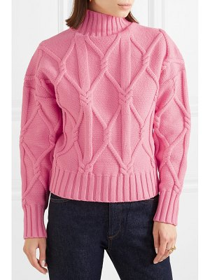 J.Crew tucker cable-knit cotton-blend sweater