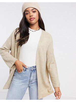 JDY cardigan in brushed knit in cream