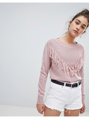 JDY clementine frill front sweater