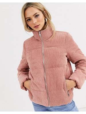 JDY cord padded jacket-pink