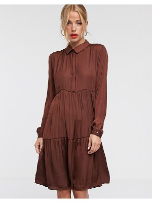 JDY tiered mini shirt dress