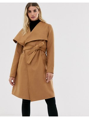 JDY wrap coat-brown