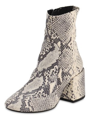 Jeffrey Campbell 70mm python print leather boots