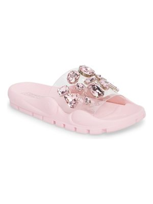 Jeffrey Campbell aspic embellished sport slide
