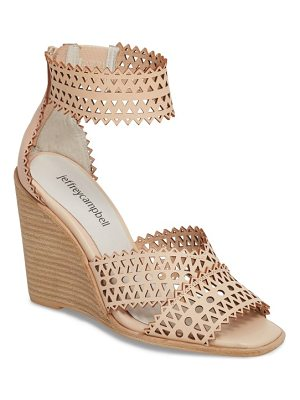 Jeffrey Campbell besante perforated wedge sandal